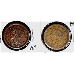 2-1853 LARGE CENTS: N-5 VF/XF & N-9 VF+