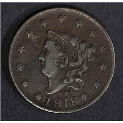 1818 LARGE CENT VF