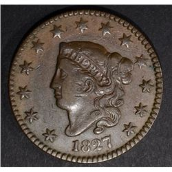 1827 LARGE CENT, VF