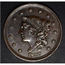 1837 LARGE CENT, CH BU