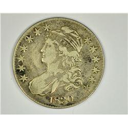 1830 BUST HALF DOLLAR, VF+