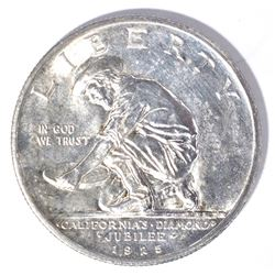1925-S CALIFORNIA COMMEM HALF DOLLAR, GEM BU FLASH