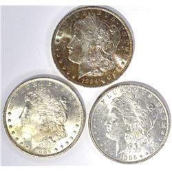2-1884-O & 1886 CH BU MORGAN DOLLARS