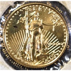 1991 1/10th OUNCE GOLD AMERICAN EAGLE