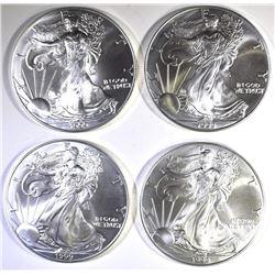 4-1999 BU AMERICAN SILVER EAGLES