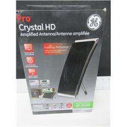 GE Pro Crystal HD  Amplified Antenna full1080p 4K Ultra HD / Free local TV