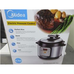 New Midea Electric Pressure Cooker 6.3 quart / perfect Rice / Quick easy and safe