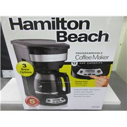 New Hamilton Beach 12 cup Programmable Coffee Maker / 3 brew options