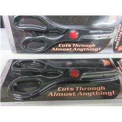 2 New Pairs of Magic Kitchen Shears / cuts through almost Anything