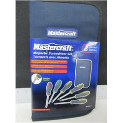 New Mastercraft Magnetic Screwdrivers set in zippered case / 6 piece