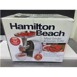 Hamilton Beach Meat Grinder & Sausage Stuffer / 500watt Motor 2lb pm 5/8hp