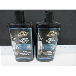 2 New Armor All Liquid Cleaner Wax 473ml / cleans and restores as you wax