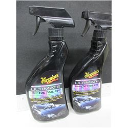 2 New Meguiars Ultimate Quik Detailer / 22floz spray Beads water relentlessly