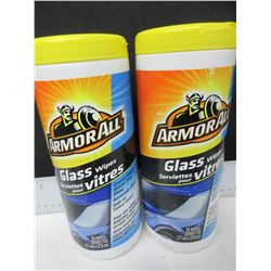 2 New Armor All Glass Wipes / 25 per
