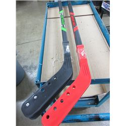 "New set of 4 Street Invasion Hockey Sticks 2 red 2 green  / 52"" can cut to size"