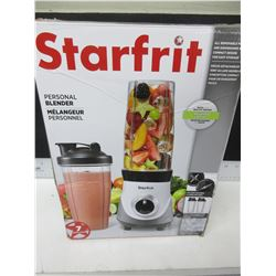 New Starfrit Personal Blender / 2 blades inc.& 2 cups with lids