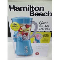 New Hamilton Beach Wave Station Express Dispensing Blender / 9 functions