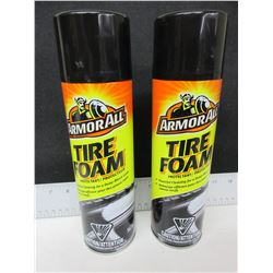 2 New Armor All Tire Foam /567g protectant / powerful clean deep black look