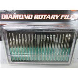 New 20 piece Diamond Rotary Files with case