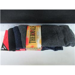 New Mens Warm Winter Thermal Socks 3 pack/ grey/blue/black size 10-13