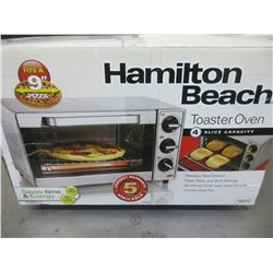New Hamilton Beach Toaster Oven 4 slice capacity Stainless steel exterior
