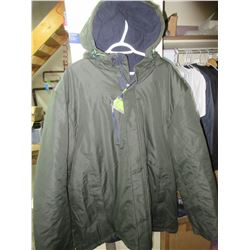 New Athletic Works Mens 2 XL Winter Jacket with Hood