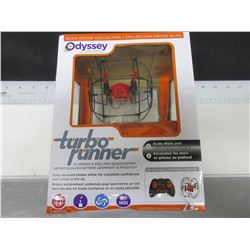 Odyssey Turbo Runner Quad Drone / scales walls and drive on the ceiling