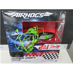 New Air Hogs Hyper Drift Drone / race on land or fly in the sky