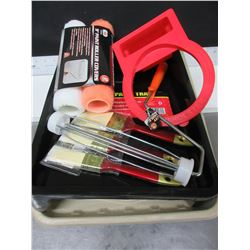 New Painting Bundle / 2 rollers & handle / 3 brushes / 2 trays / paint brush holder