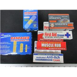 New First Aid Bundle / great Value / Band Aids / Creams