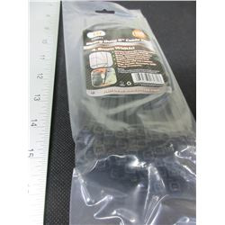 "New pack of 100 Cable/Zipties  8"" Heavy Duty black"