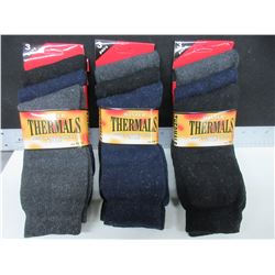 9 New Pairs of Winter Thermal Socks / size USA 10 - 13