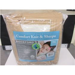 New Full Heated Blanket comfort knit & Sherpa / ten heat settings machine wash