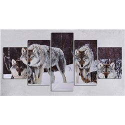 NEW 5PC FRAMED WOLF SHOWHOME