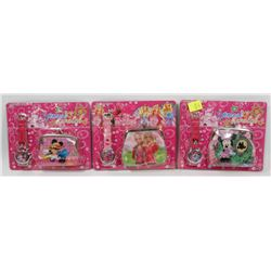 BUNDLE OF THREE KIDS WATCH AND WALLETS SETS