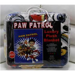 "NEW! ""PAW PATROL"" LUXURY PLUSH BLANKET (TWIN)"