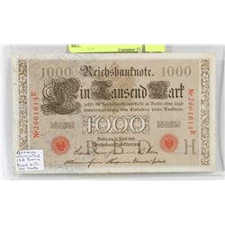 1910 GERMAN 1000 MARK BERLIN BILL.