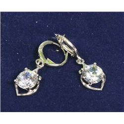 PAIR OF 925 STERLING SILVER EARRINGS WITH LARGE