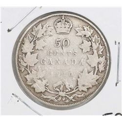 CANADA 1910 FIFTY CENT COIN.