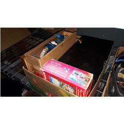 BOX OF COLLECTIBLES AND DOLL