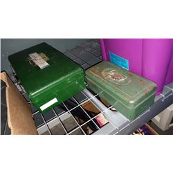 GREEN CASE OF FIRST AID SUPPLIES