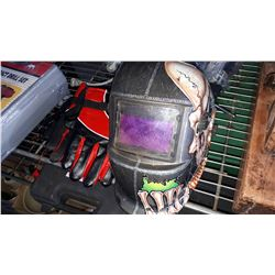 WELDING HELMET AND 12 VOLT HEATED GLOVES