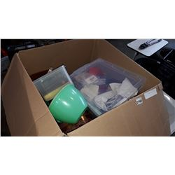 BOX OF TUPPERWARE AND KITCHEN ITEMS