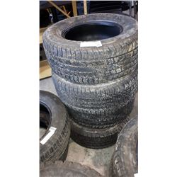4 WIDE TRACK TIRES 2 215/60R14 AND 2 235/60R14