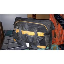 DEWALT TOOL BAG W/ TOOLS AND PAINTING SUPPLIES AND TOOL BOX