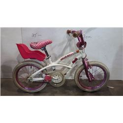 HELLO KITTY KIDS BIKE W/ DOLL CARRIER SEAT