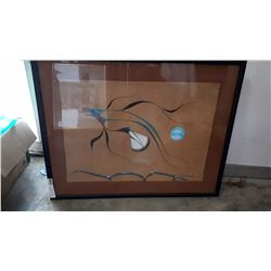 ISAAC BIGNALL SIGNED PRINT NATIVE HAWK IN BLACK FRAME