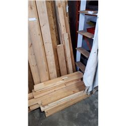 LOT OF VARIOUS LENGTHS 2X4 AND 2X6 LUMBER
