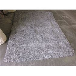 5FT GRAY SHAG AREA RUG