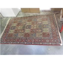 5FT FRINGED RED AREA CARPET